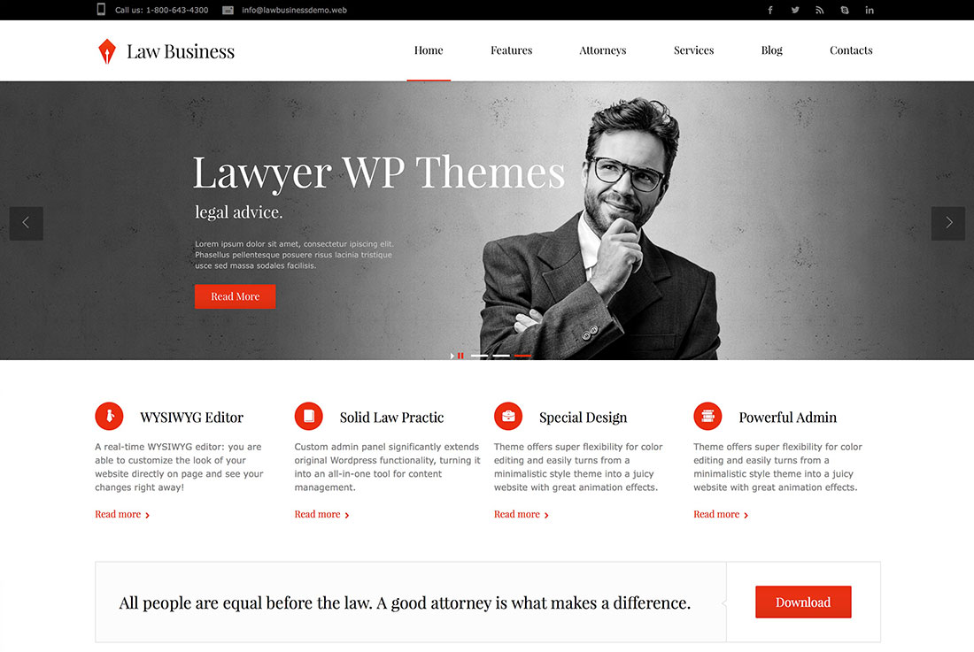 16 Lawyer Attorney WordPress Themes For Private Practice Lawyers And Law Firms 2015