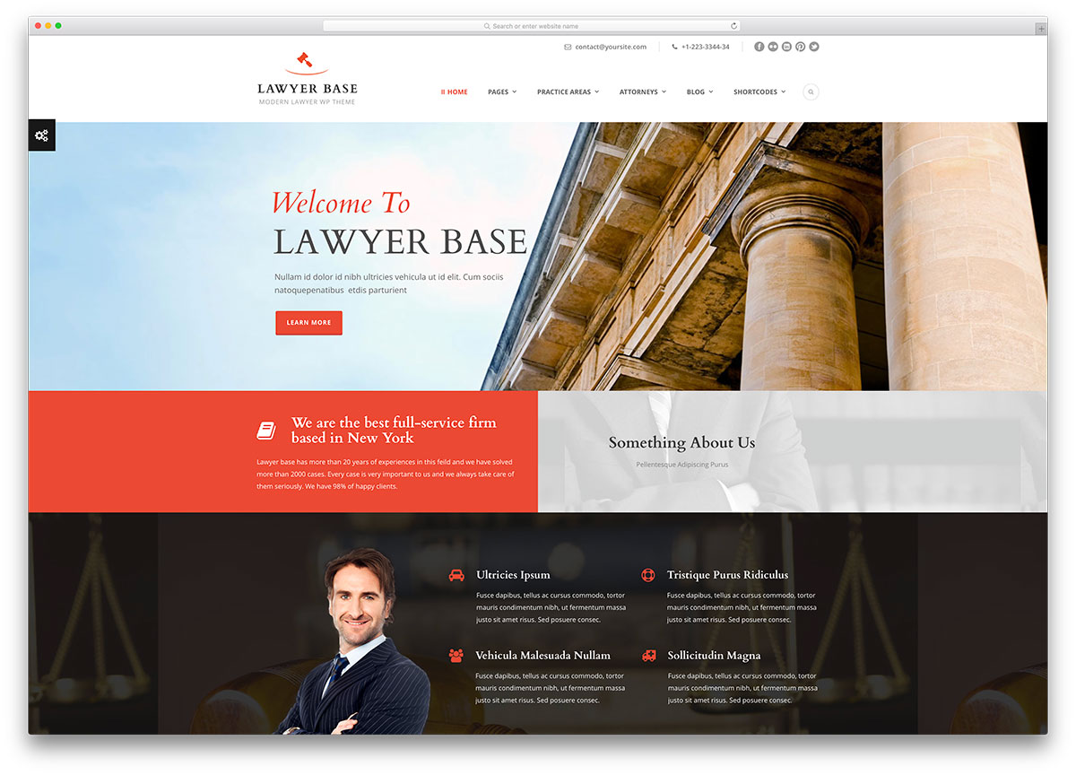 20+ Best Lawyer WordPress Themes For Law Firms and Attorneys 2017 ...