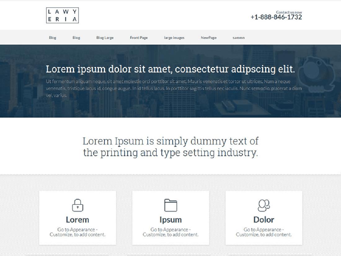 Lawyeria Lite WordPress Theme for Law Websites