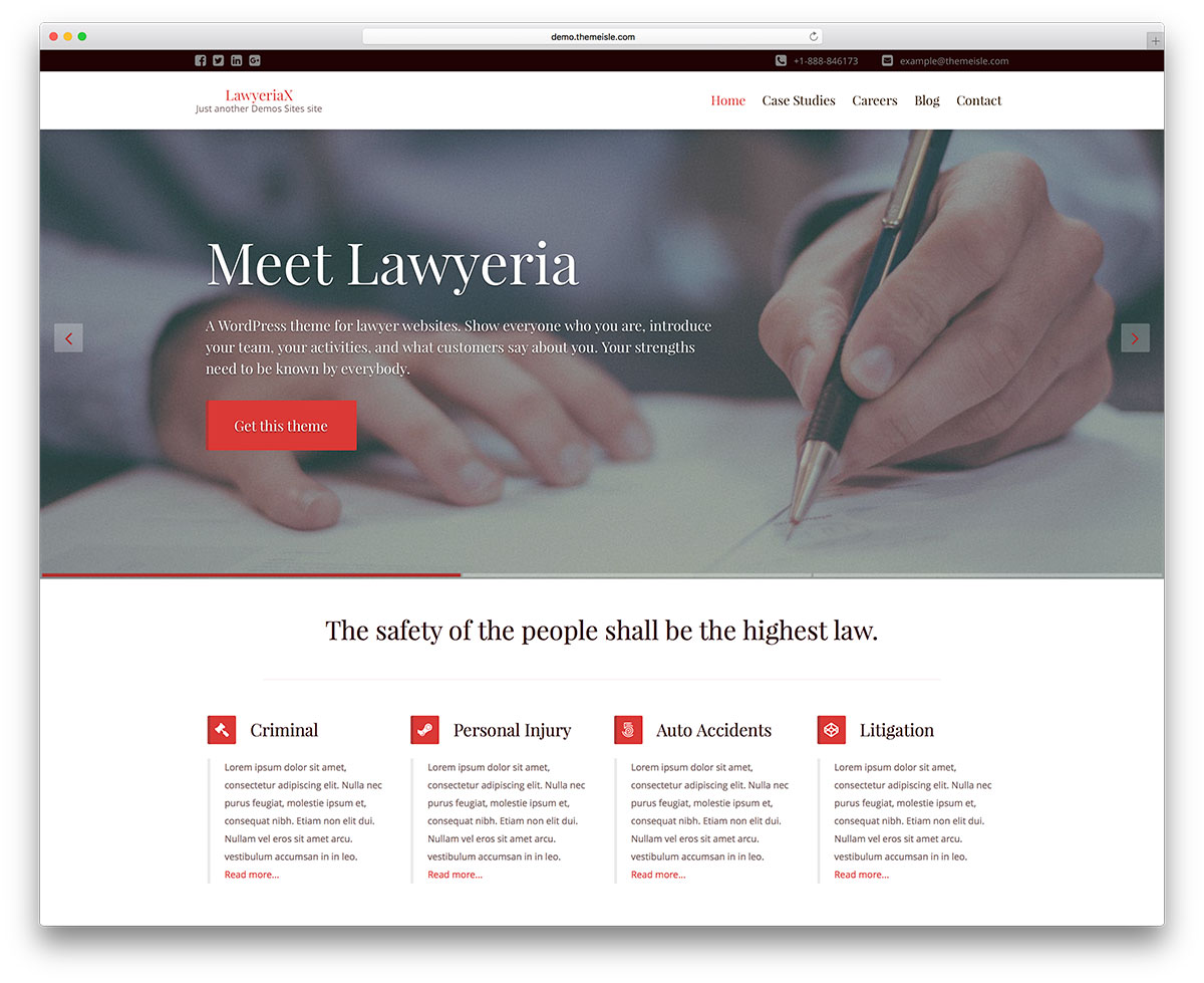 30 best lawyer wordpress themes for law firms and attorneys 2018