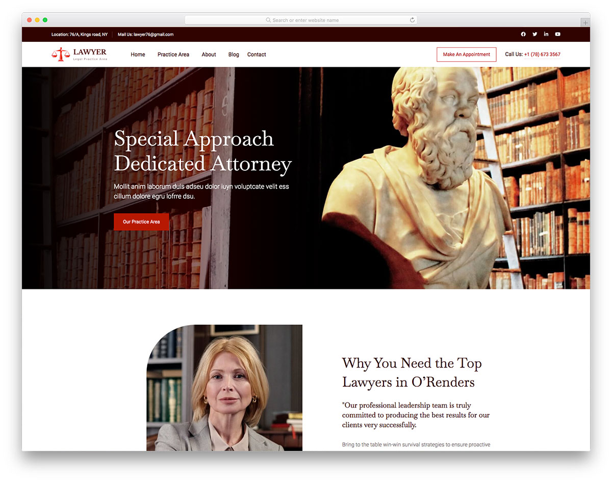 Lawyerlegal Free Template