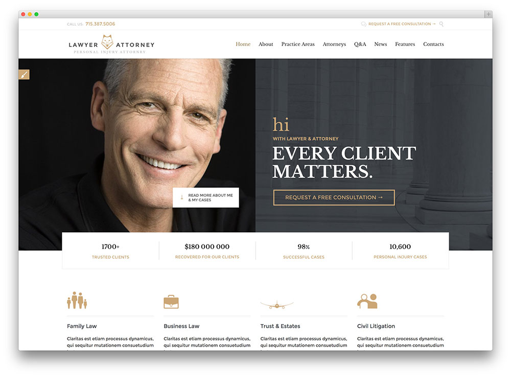 lawyers attornerys legal office consulting wordpress theme