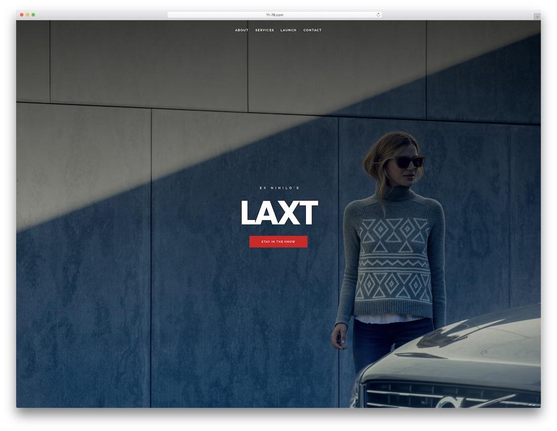 laxt fullscreen website template