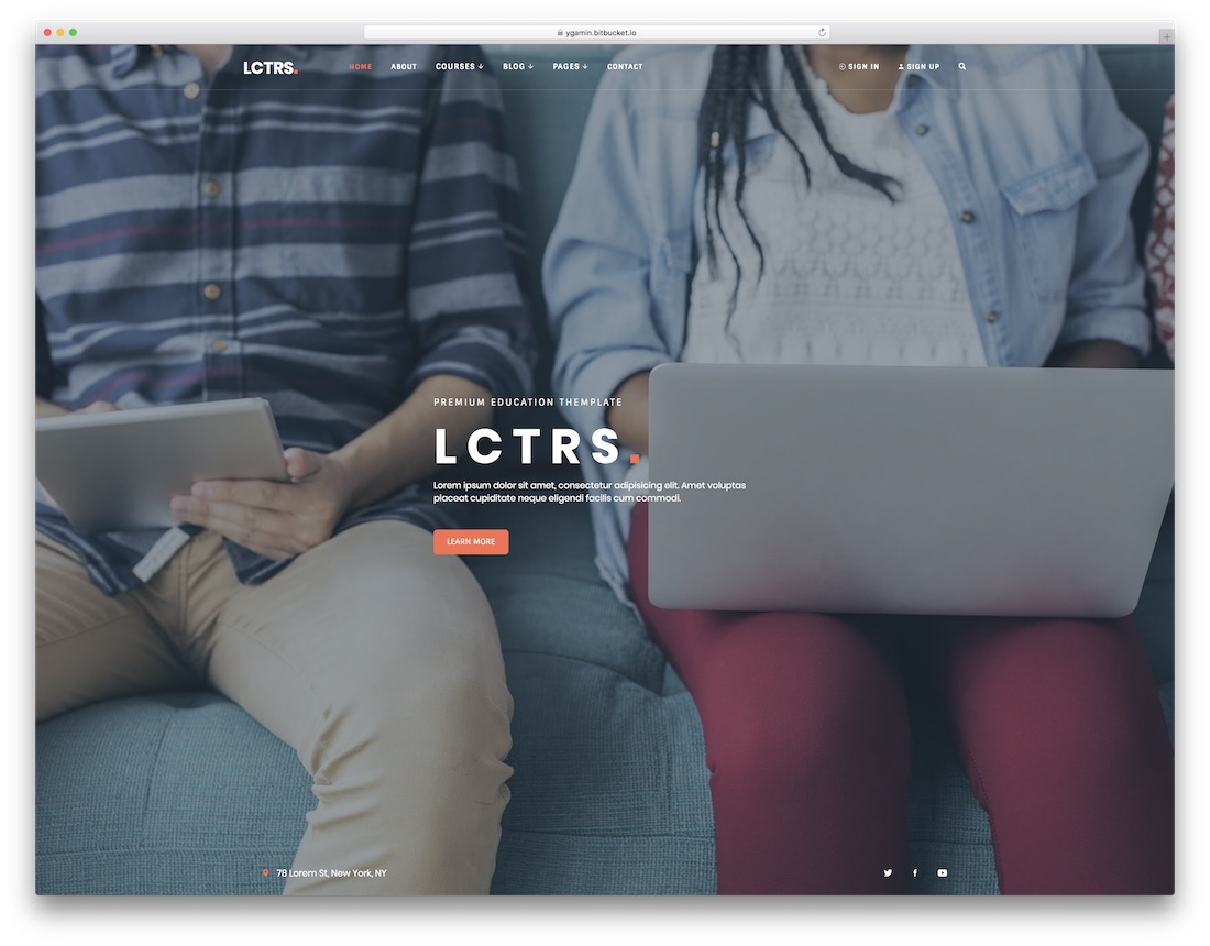 lctrs school website template