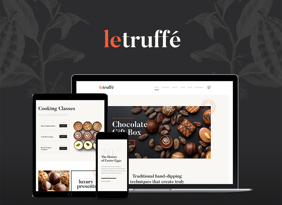 le-truffe-chocolate-boutique-wordpress-theme