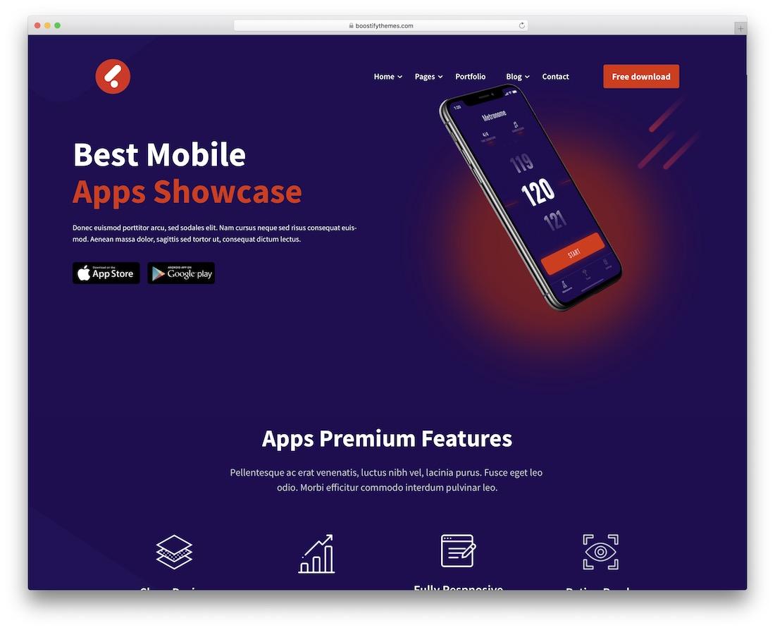 leadcon app showcase wordpress theme