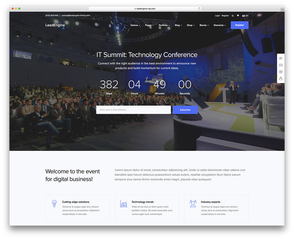 39 Wordpress Themes For Conference And Events 2021 Colorlib