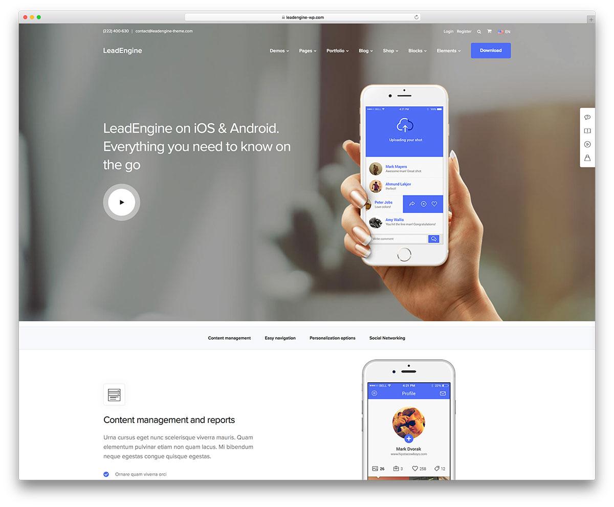 33 Best App & Software Showcase WordPress Themes 2018 - Colorlib