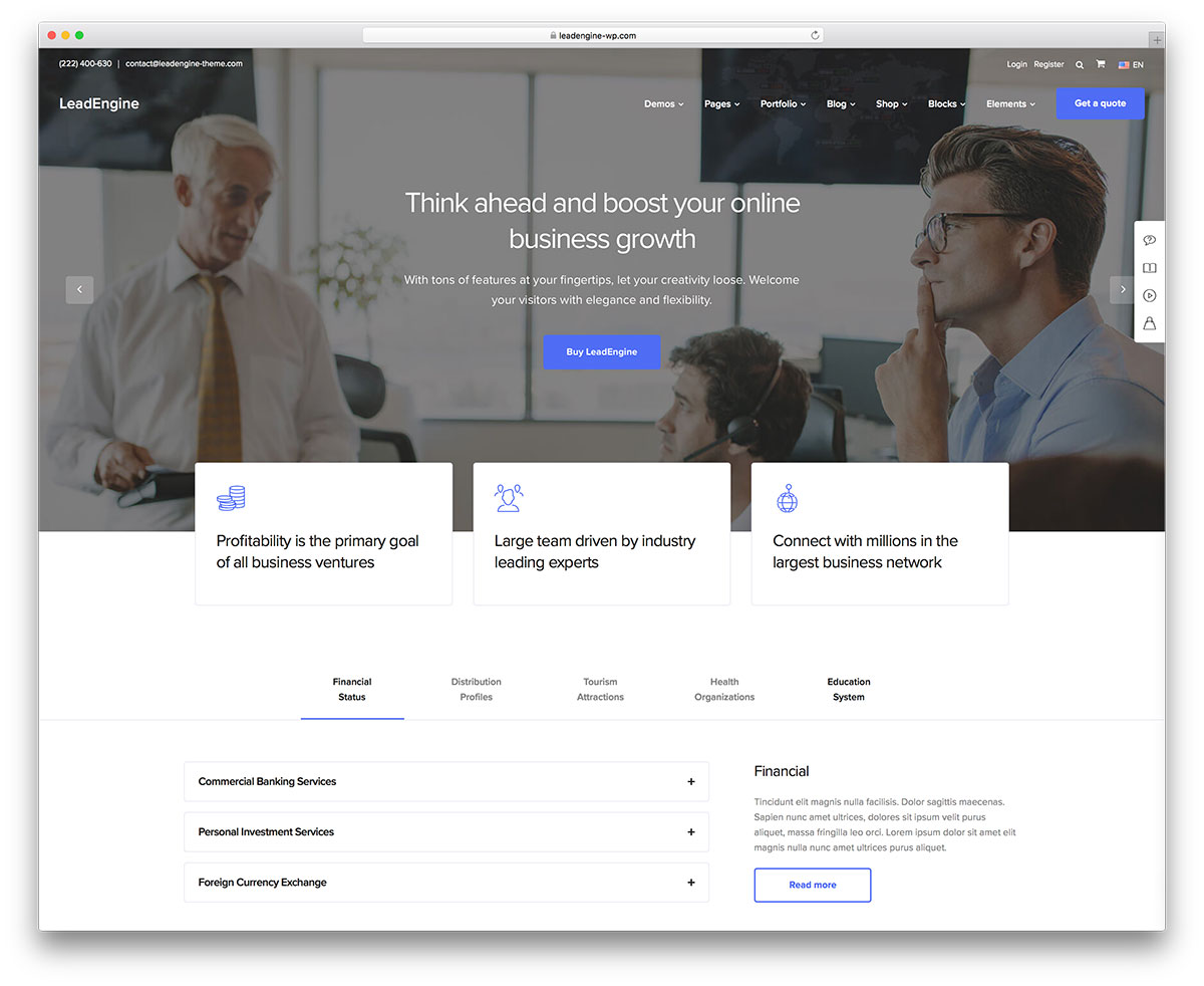50+ Best WordPress Corporate Business Themes of 2018 - colorlib