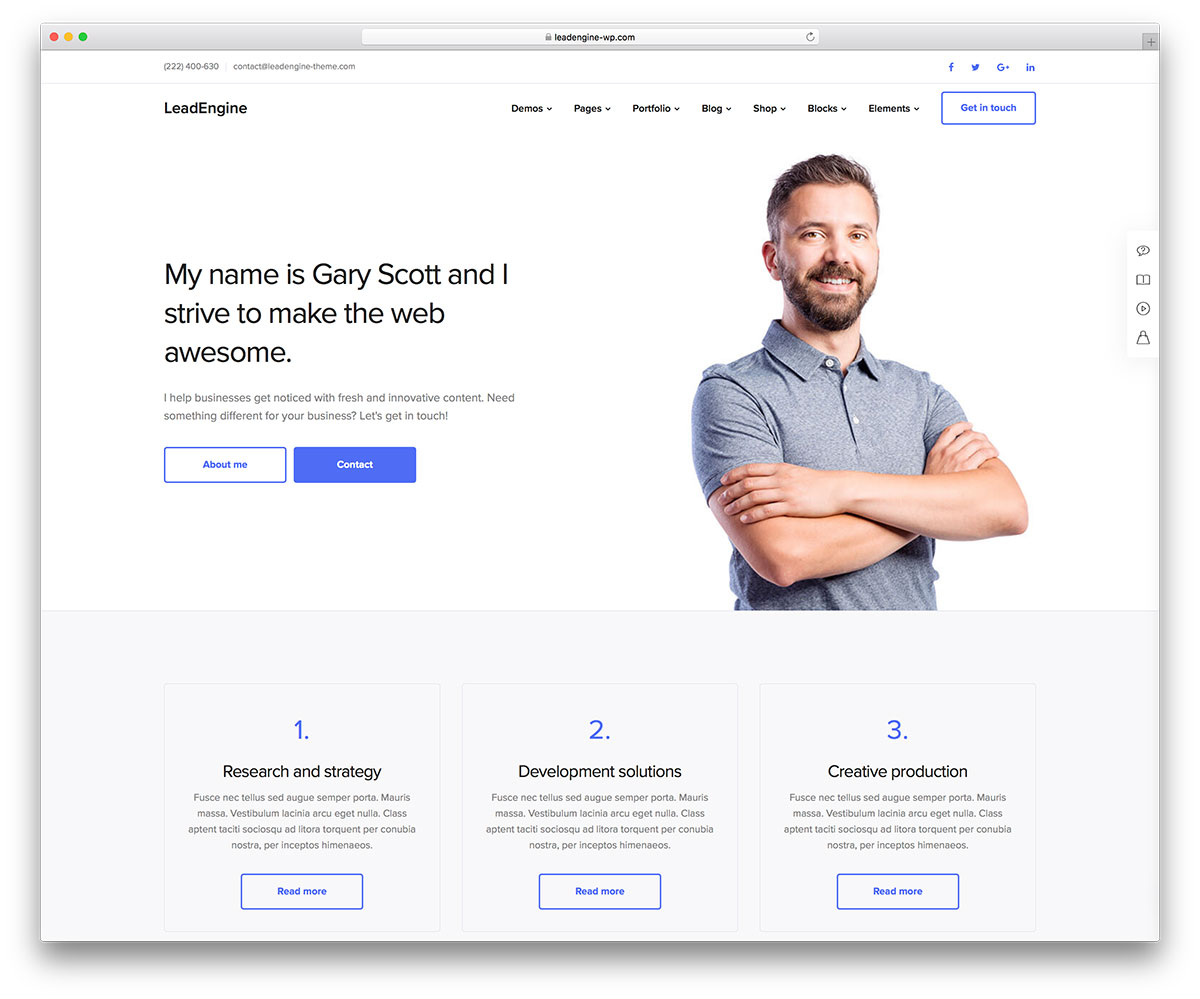 30 Best vCard WordPress Themes 2018 For Your Online Resume and ...