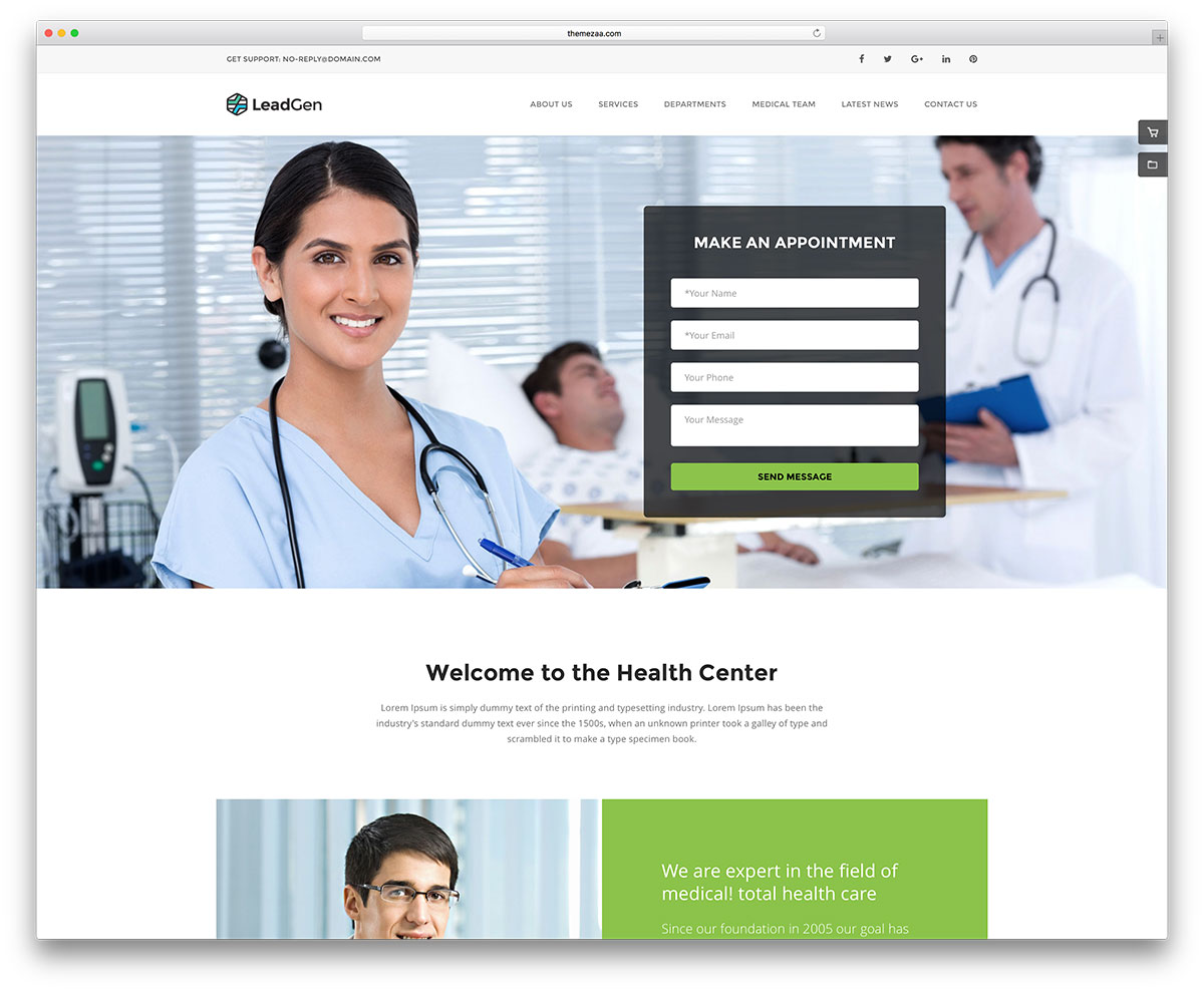 20 best html5 medical website templates 2017 - colorlib, Skeleton