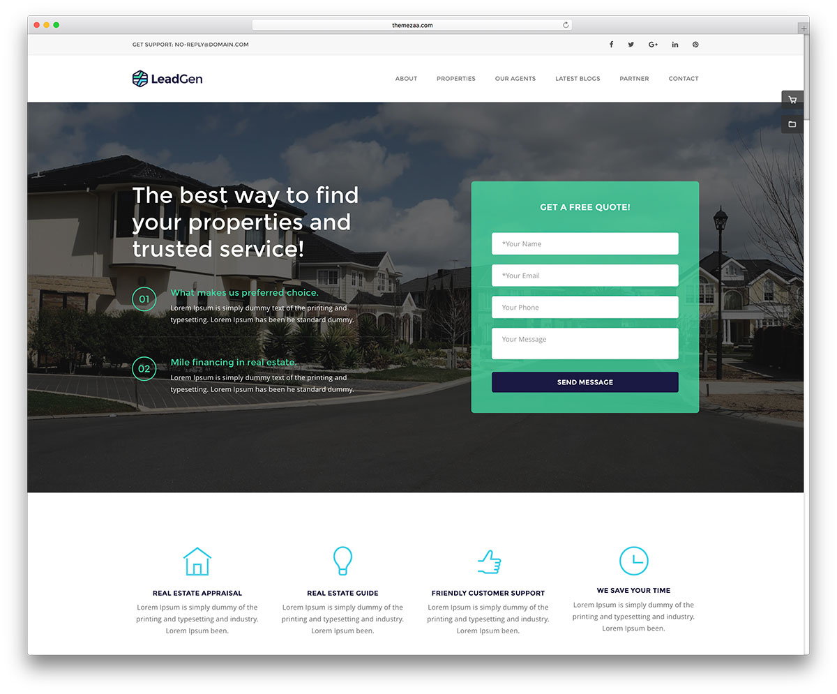 , 25 Top Bootstrap Real Estate Website Templates 2020, Rojak WP
