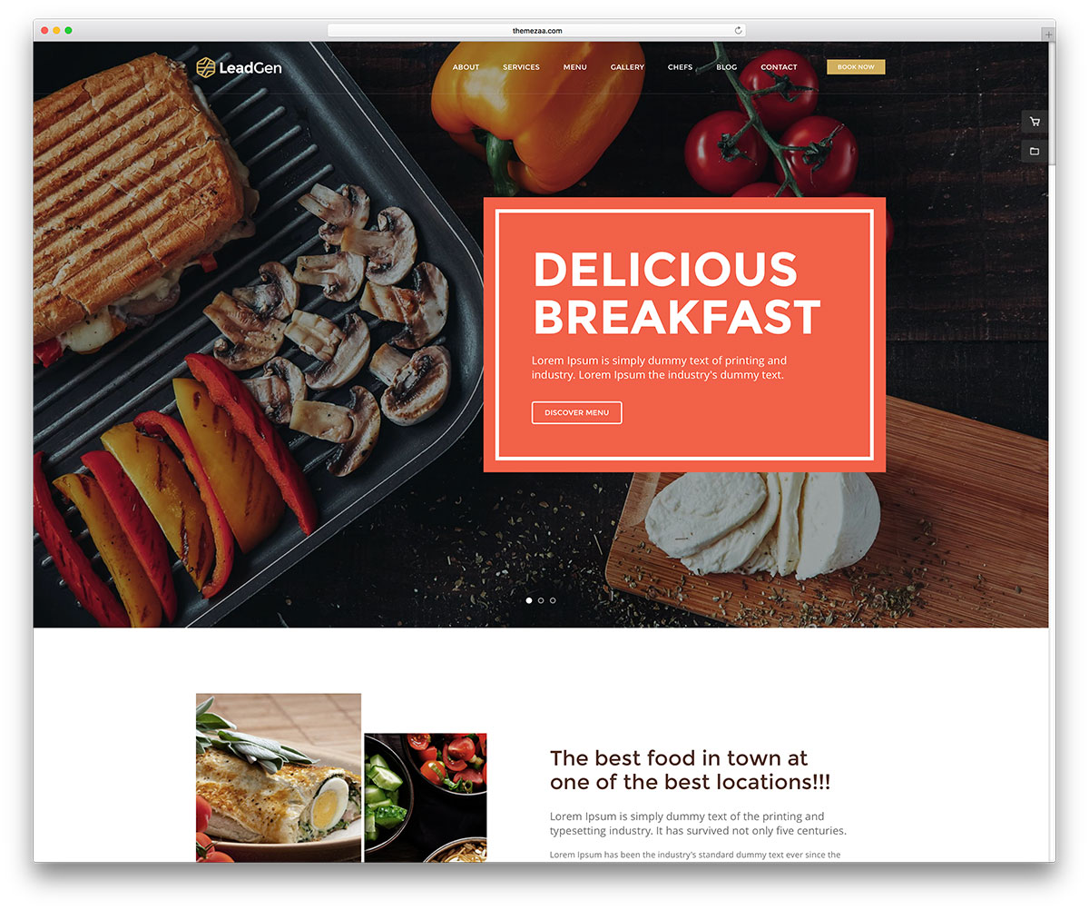 22 best html5 restaurant website templates 2018 colorlib leadgen is a stylish and responsive html marketing multipurpose website template it lets webmasters across a range of businesses establish an outstanding forumfinder Image collections