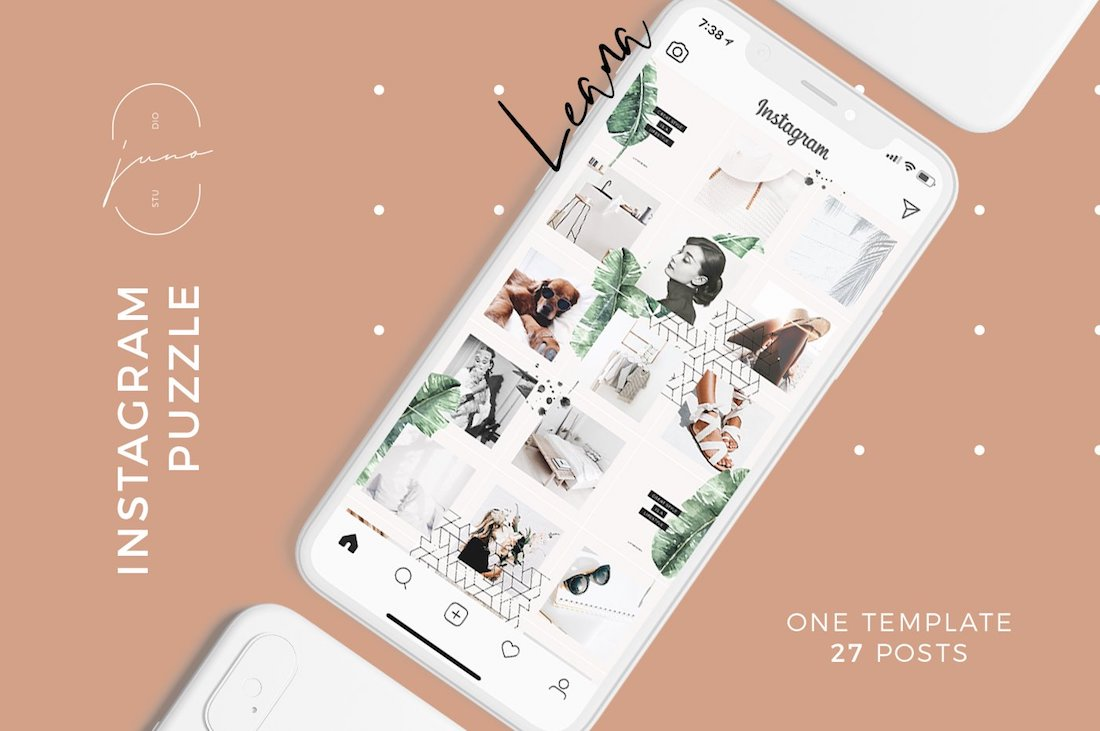 leana instagram template