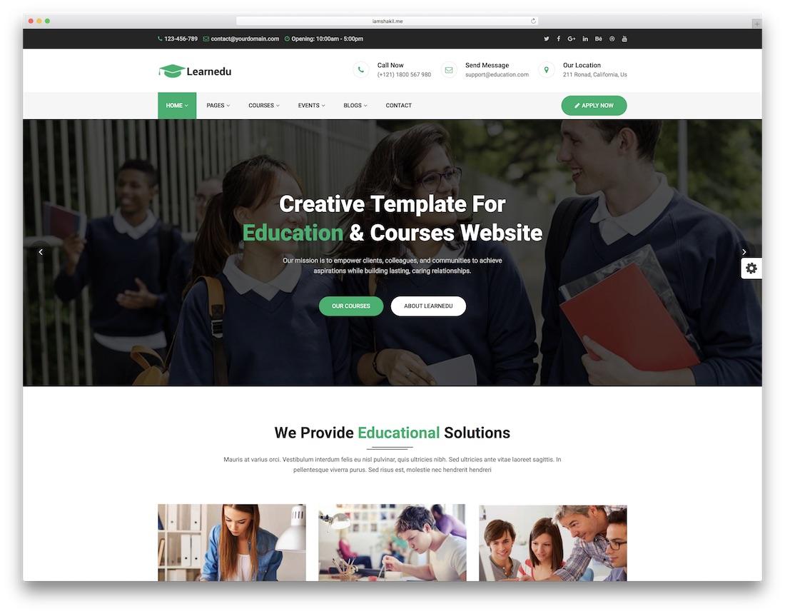 educu 학교 웹 사이트 템플릿