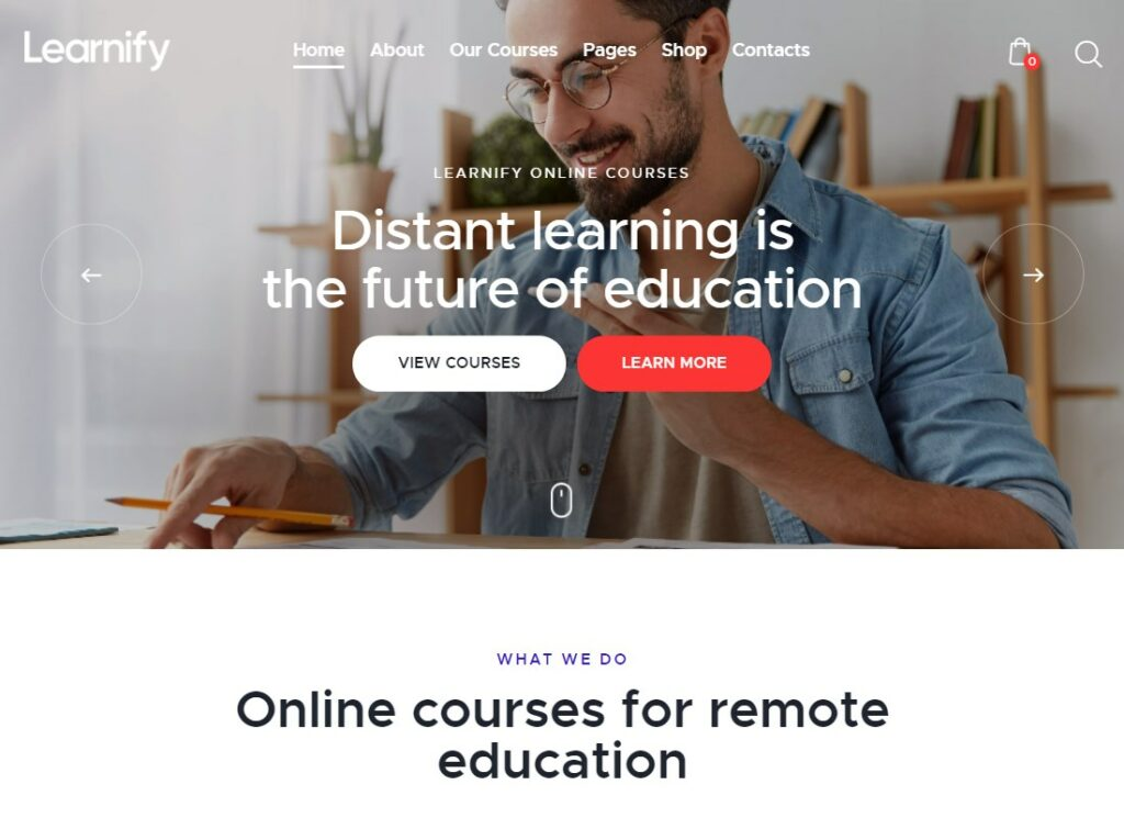 Learnify   Online Education Courses WordPress Theme