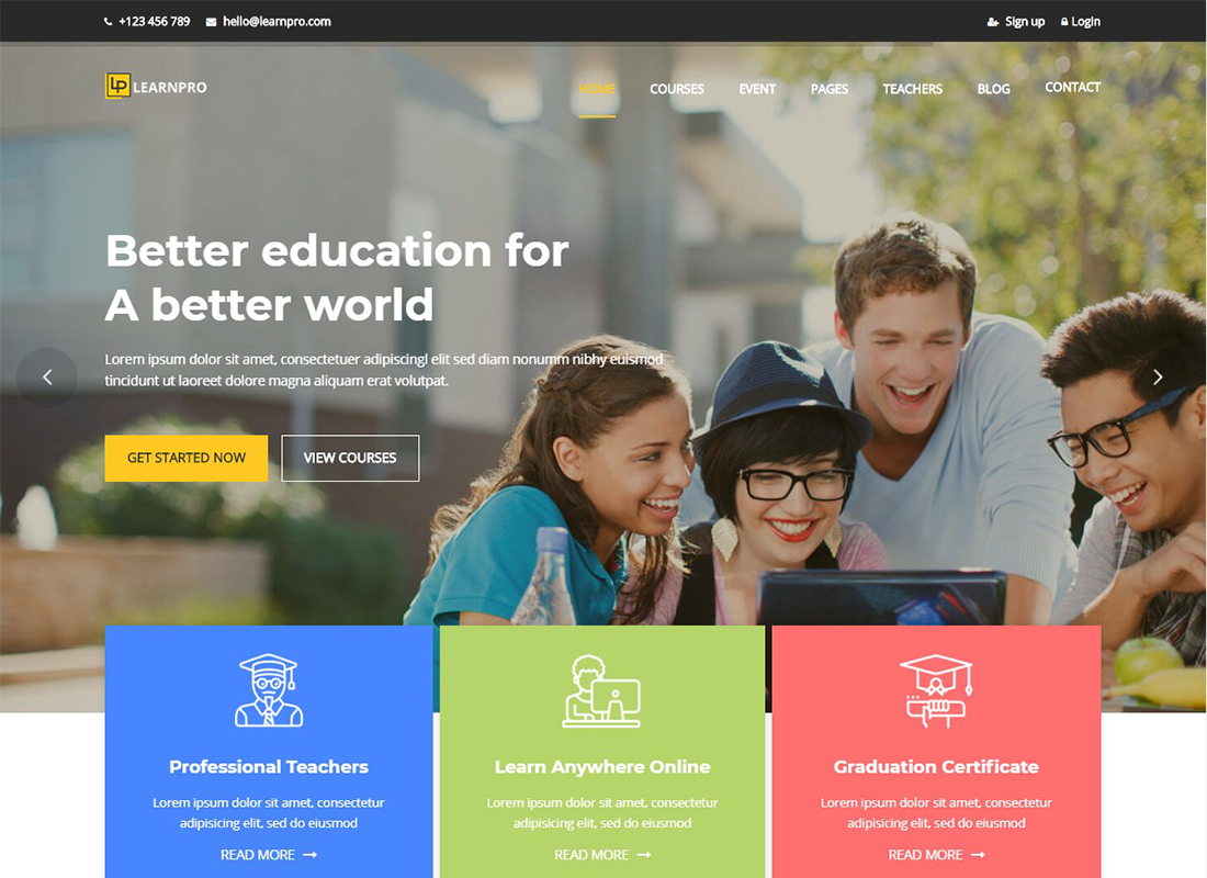 learnpro-education-wordpress-theme