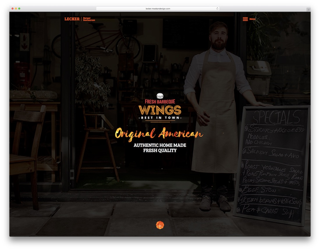 lecker catering website template