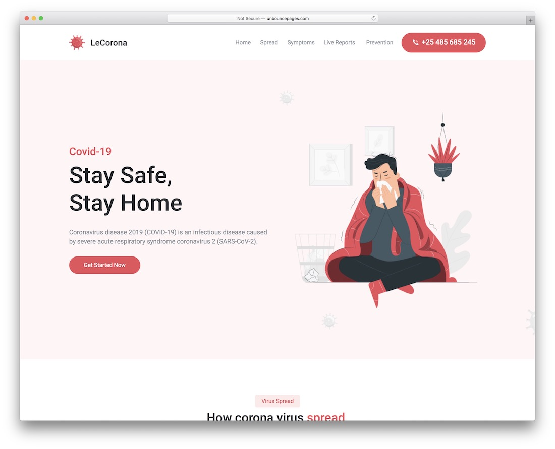 lecorona unbounce landing page template