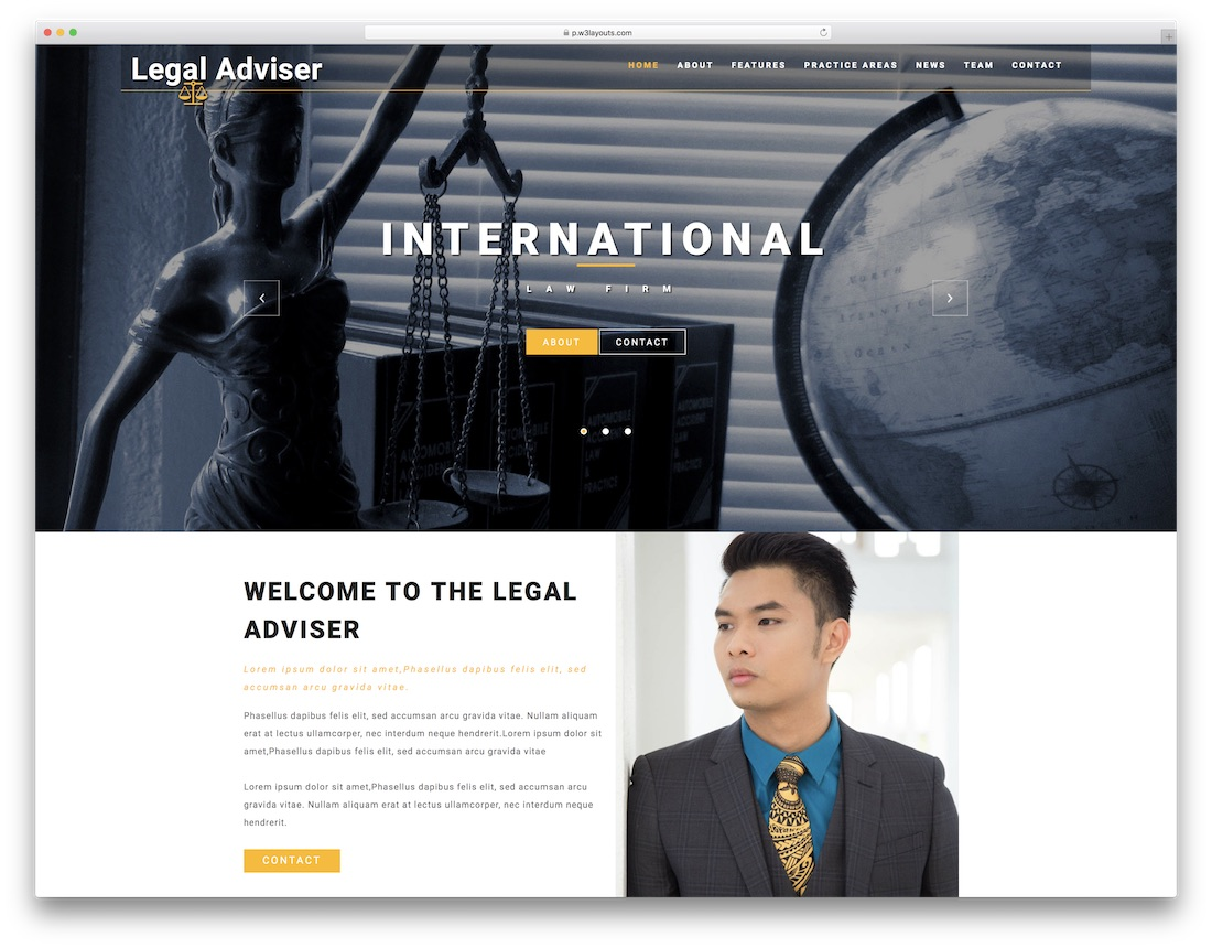 legal free lawyer website template