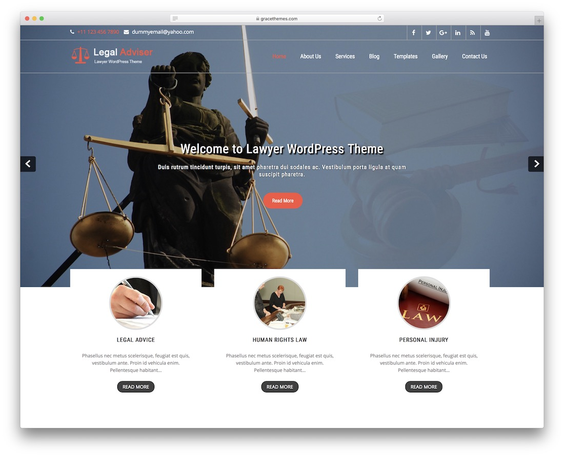legal adviser lite free wordpress theme