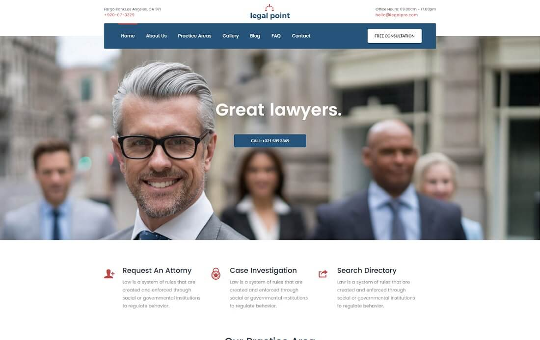 legal point HTML lawyer website template