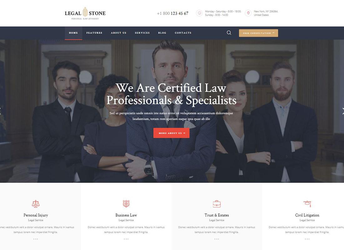 Legal Stone | Lawyers & Attorneys WordPress Theme