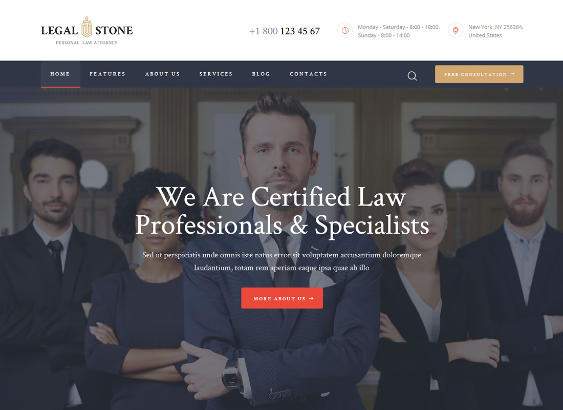 Legal Stone - Lawyers & Attorneys WordPress Theme