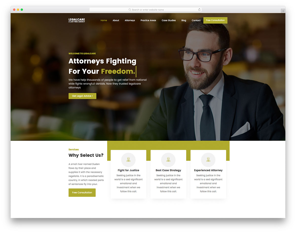 Legalcare Free Template