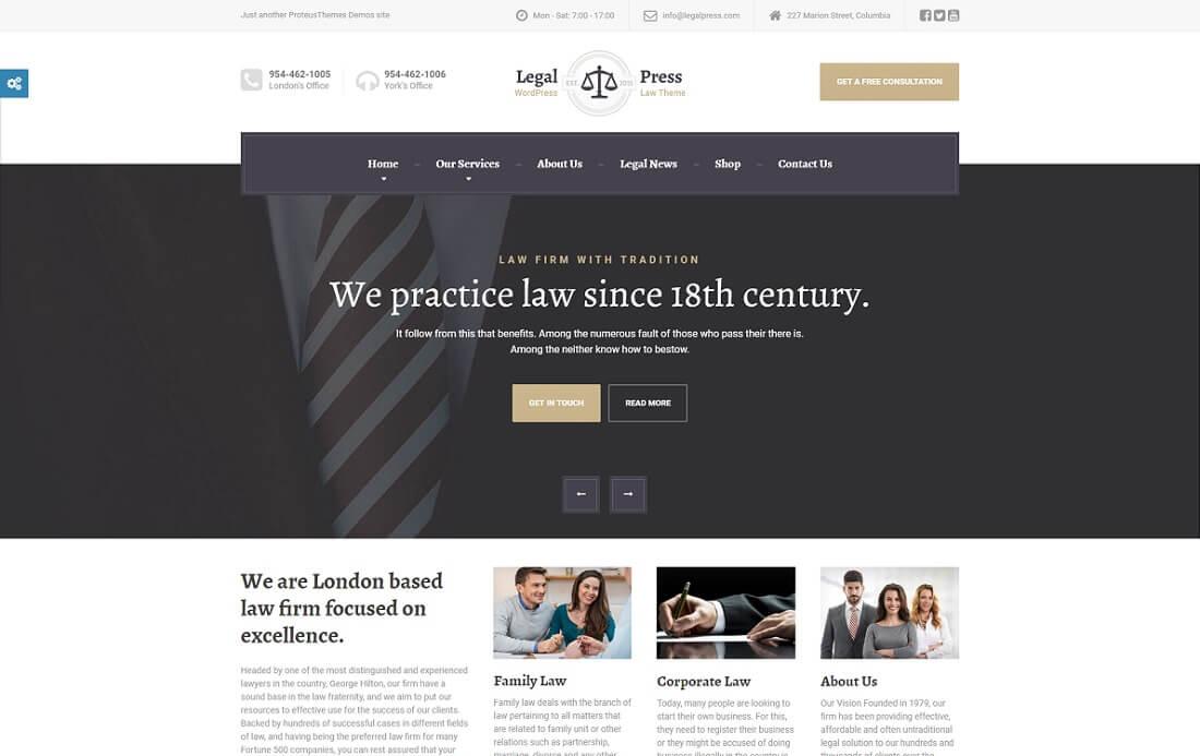 legalpress HTML lawyer website template