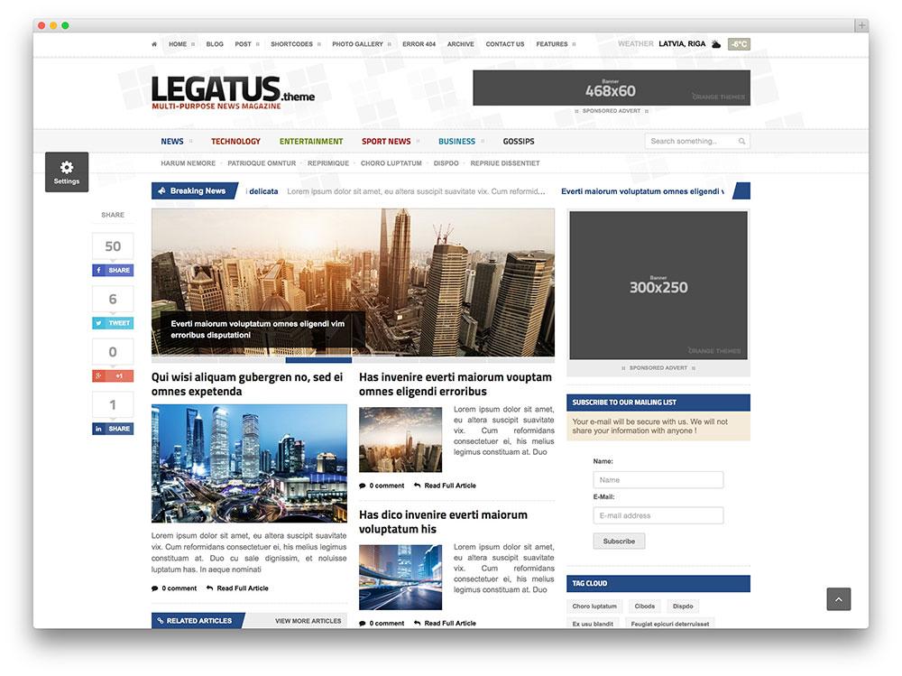 legatus minimal magazine theme