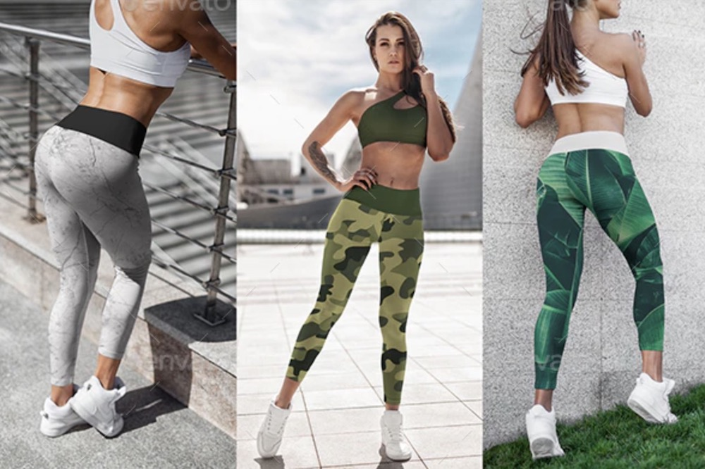 leggings mockup sports girl