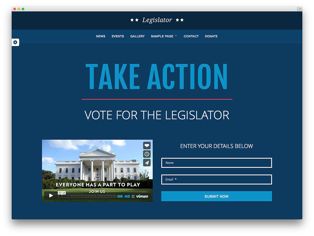 Legislator WordPress theme