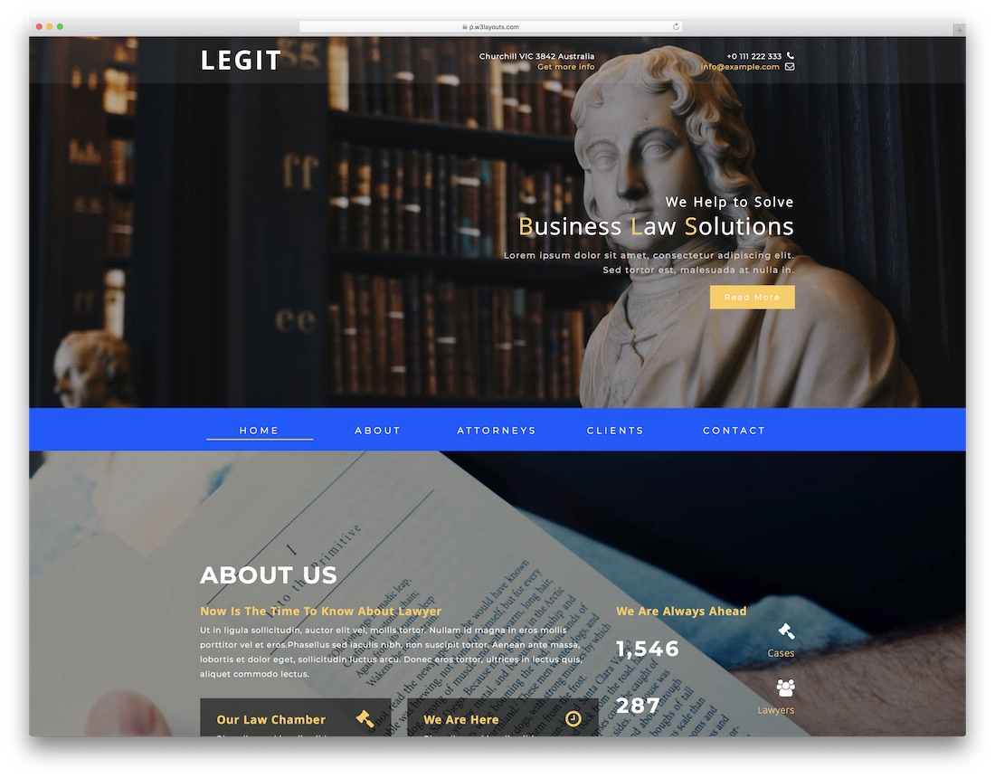 legit free lawyer website template