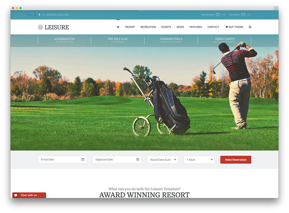 leisure - hotel and resort booking theme