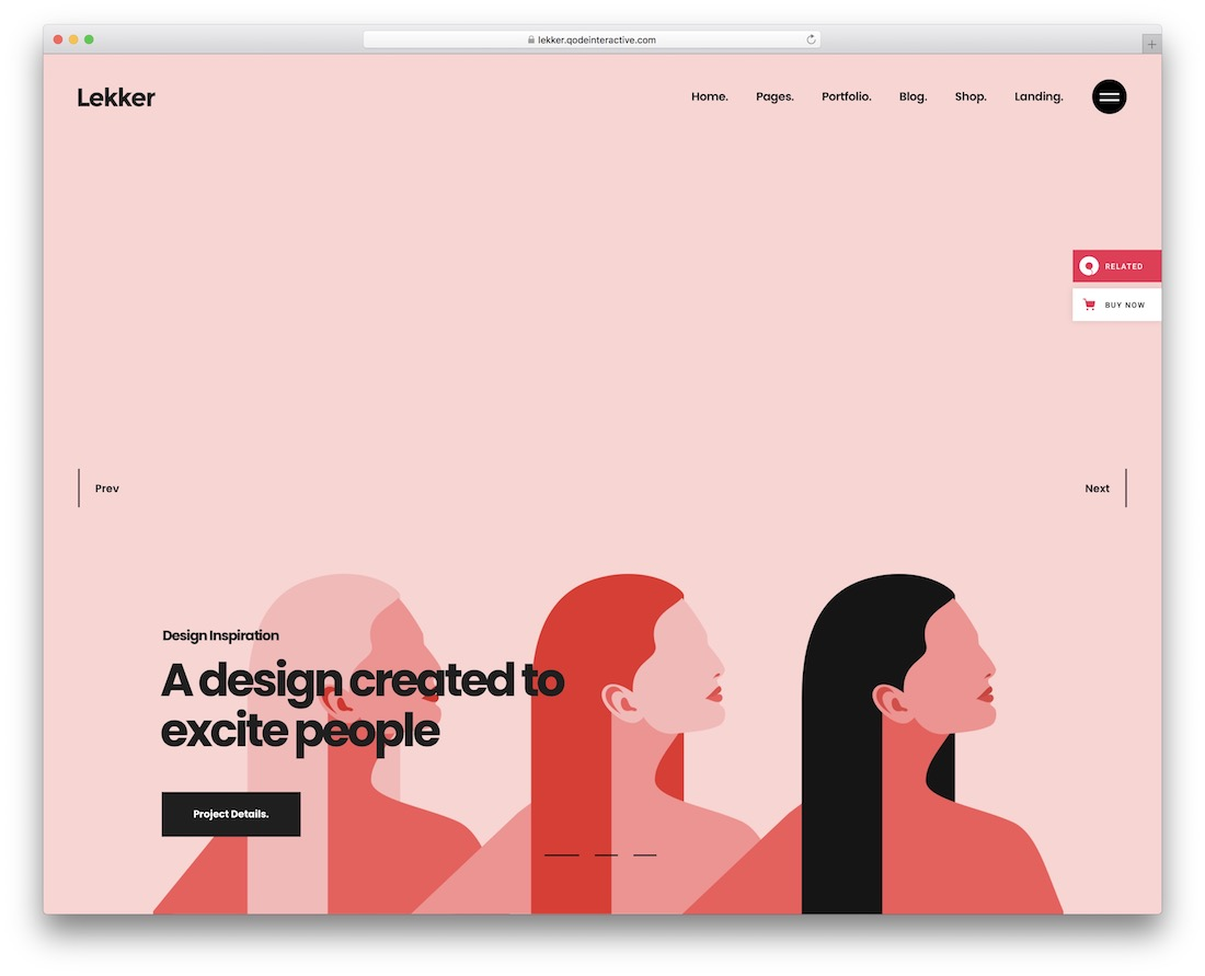 lekker colorful wordpress theme