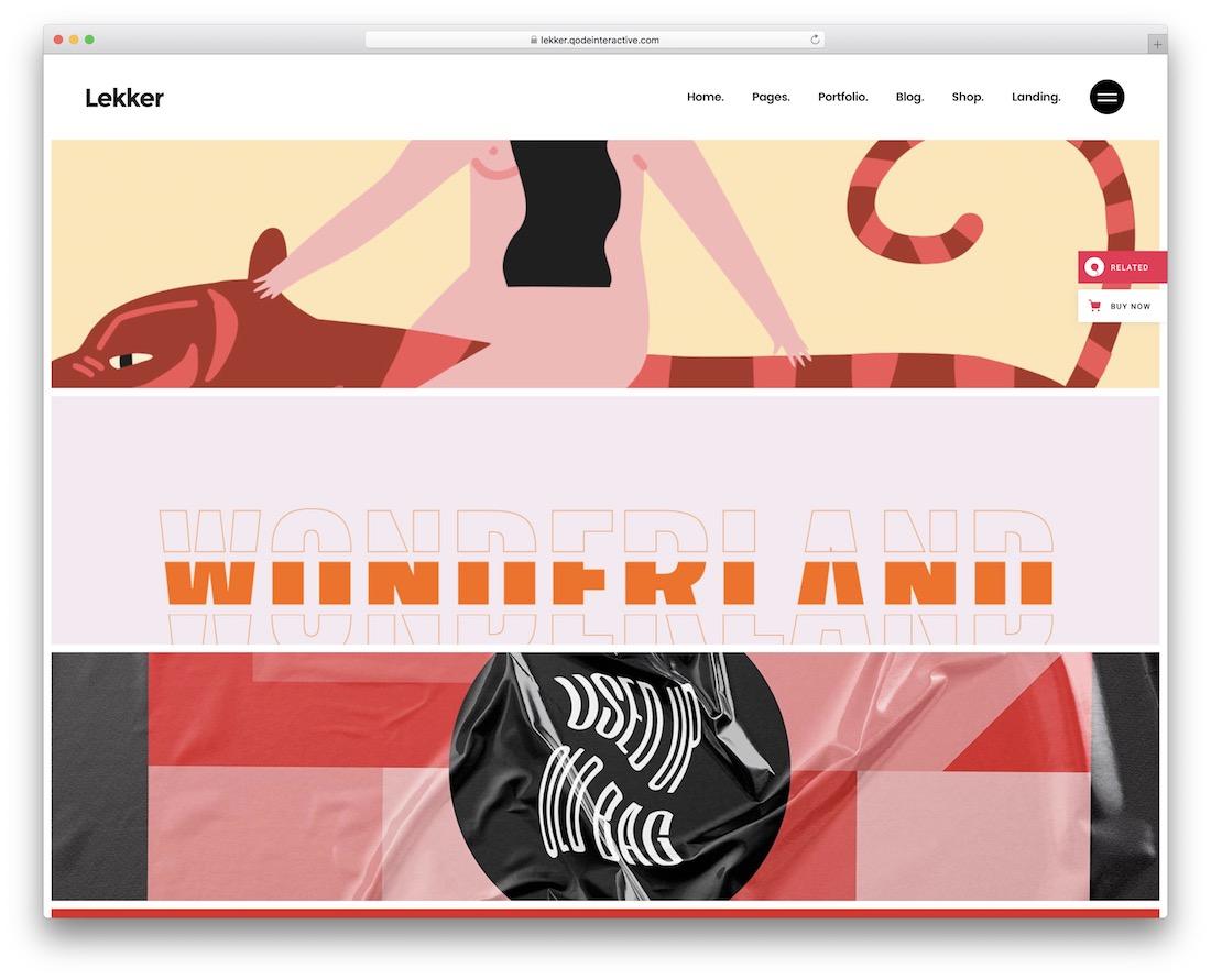 lekker cool website design
