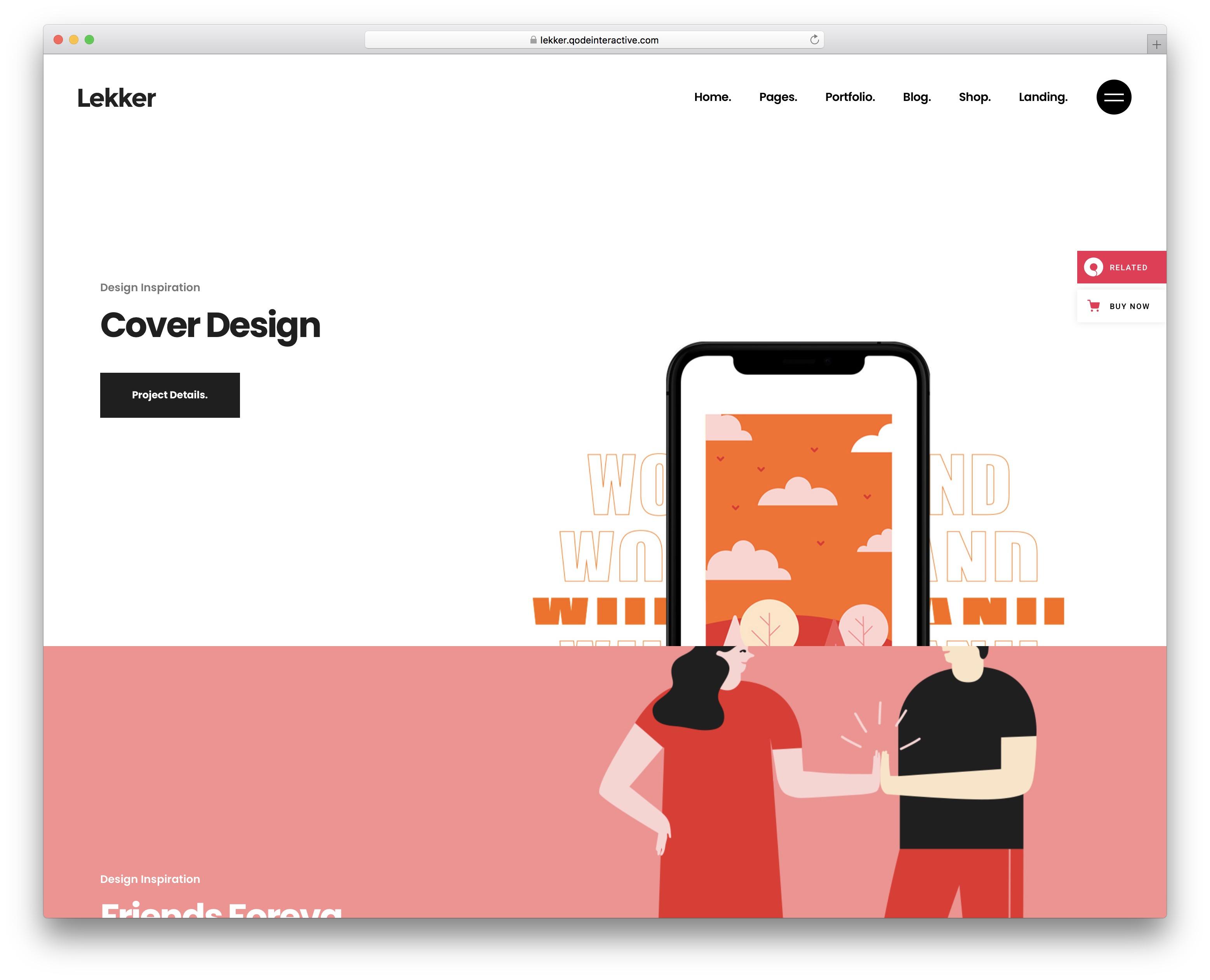 lekker wordpress theme for artists