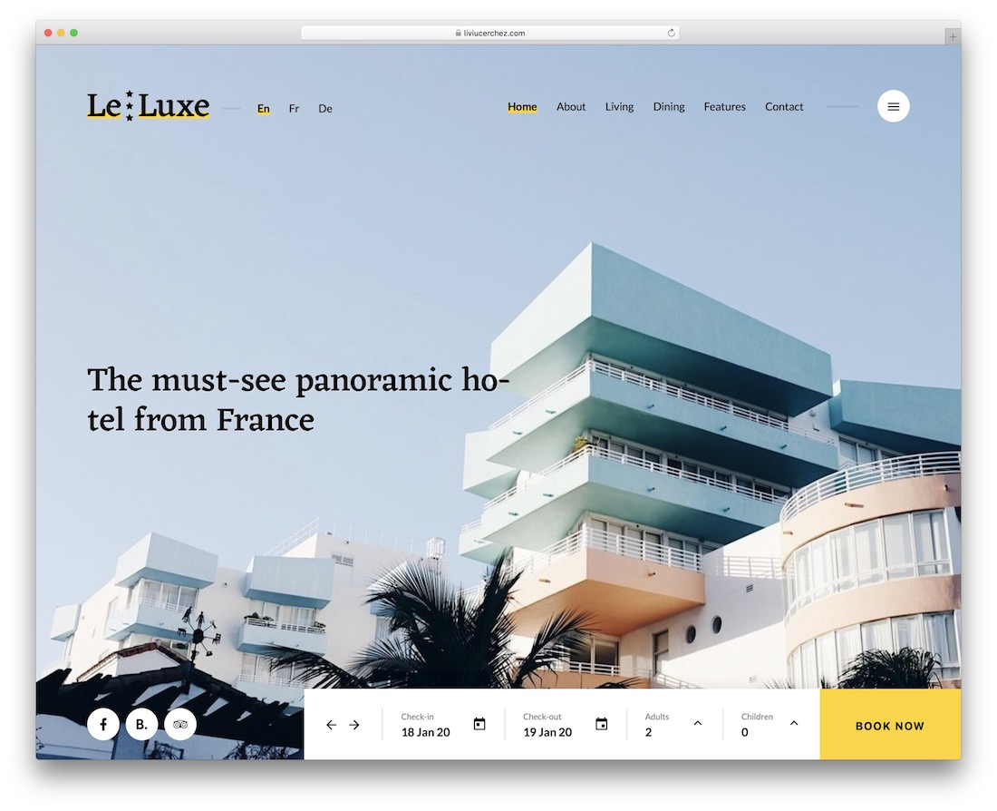leluxe hotel website template