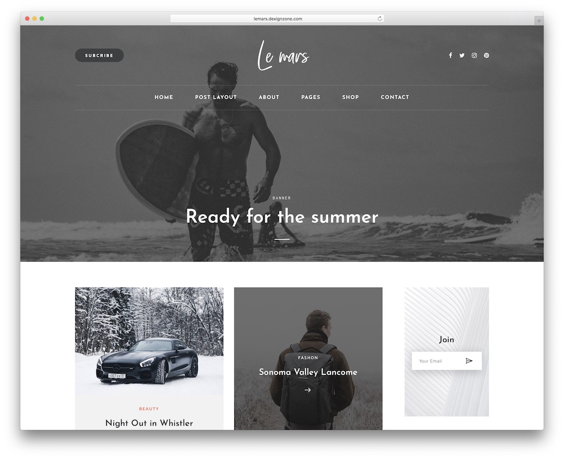 lemars personal website template