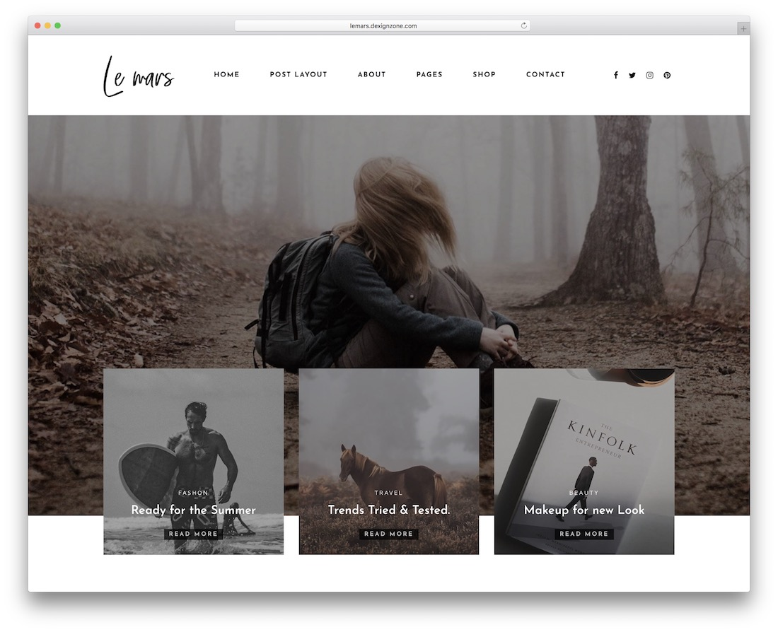 lemars wordpress theme for writers