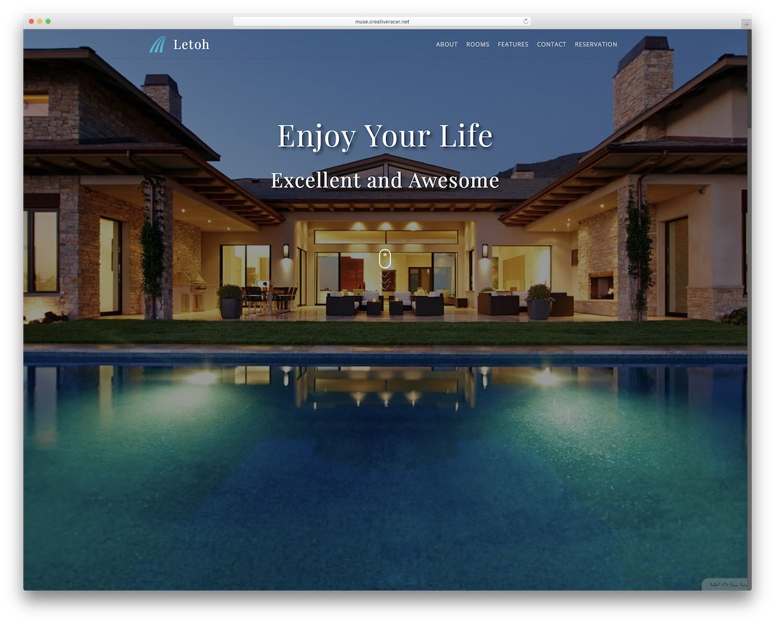 letoh adobe muse template