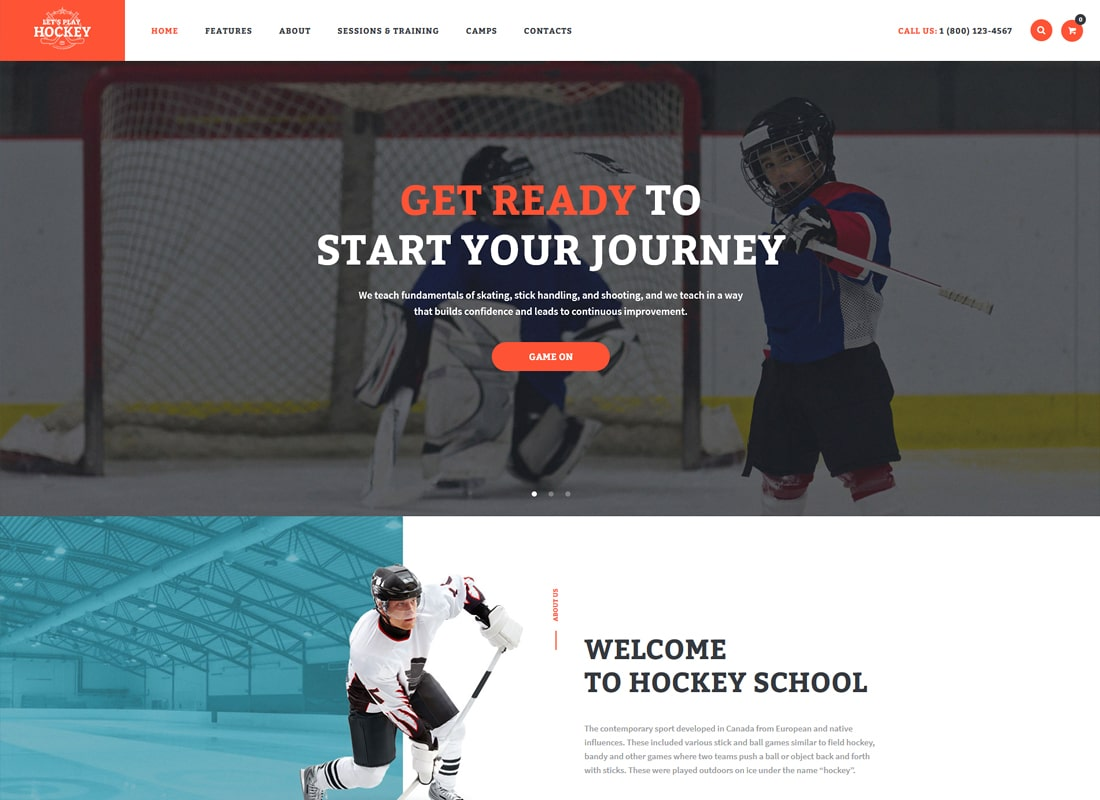 Let's Play | Hockey School & Sport WordPress Theme