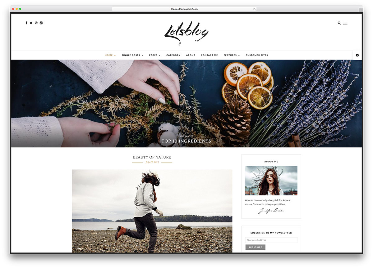 letsblog-minimal-wordpress-blog-theme