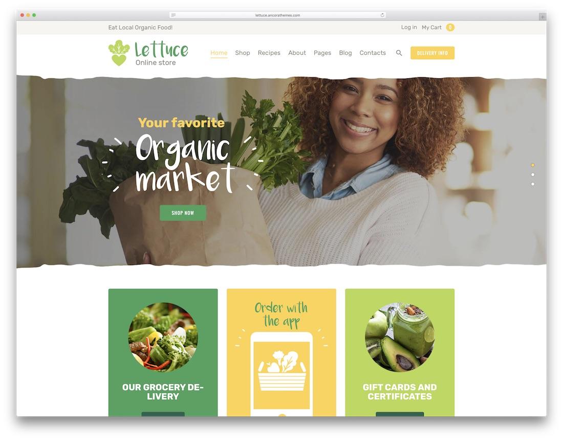 lettuce food recipes wordpress theme