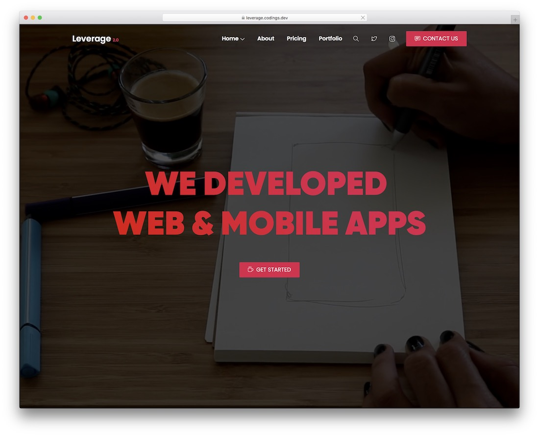 leverage creative agency wordpress theme