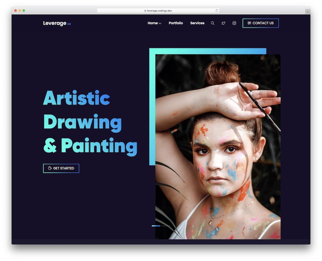 leverage portfolio website template