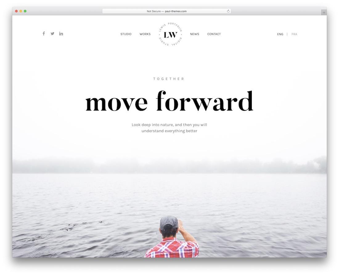 lewis personal branding wordpress theme