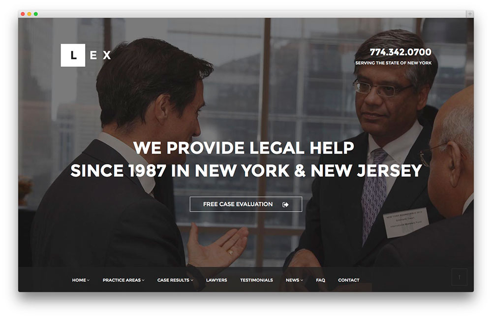 Lex WordPress Legal theme