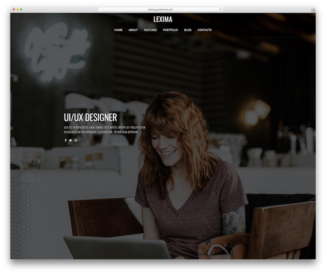 lexima personal website template